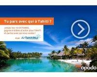 Opodo: 6 billets d'avion Aller/Retour pour Tahiti à gagner