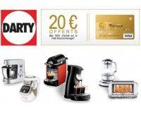 Darty: [VISA Premier] 20€ offerts dès 150€ d'achat sur le petit électroménager