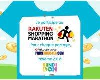 PriceMinister: 2€ reversés à Handidon pour chaque partage du Shopping Marathon