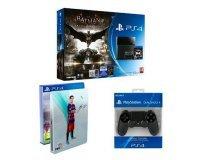 Amazon: Pack PS4 500Go + Batman Arkham Knight + FIFA16 + Steelbook + 2ème Manette à 399€