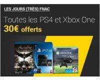 Fnac: [Adhérents] 30€ offerts en chèque cadeau pour l'achat d'une Xbox One ou PS4