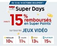PriceMinister: SUPER DAYS : de 10 à 15% de vos achats jeux vidéo remboursés en super points