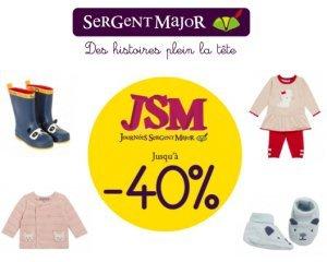 Sergent Major: [Journées Sergent Major] Jusqu'à -40% sur une sélection de vêtements enfant