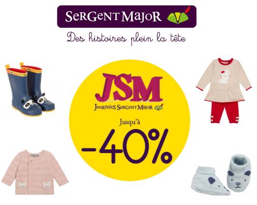 Code promo Sergent Major : Jusqu'à -40% sur une sélection de vêtements enfant pour les titulaires de la carte de fidélité