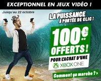 Cdiscount: 100€ offerts en 4 bons d'achat pour l'achat d'une Xbox One ou d'une Xbox 360