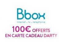 Darty: 100€ offerts en carte cadeau pour toute souscription à une offre Bbox
