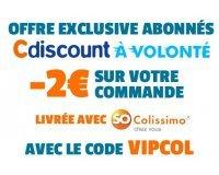 Cdiscount: [Abonnés Cdiscount à volonté] - 2€ sur votre commande livrée avec So Colissimo