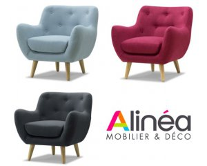 fauteuil poppy esprit seventies coloris au choix 249 alin a. Black Bedroom Furniture Sets. Home Design Ideas