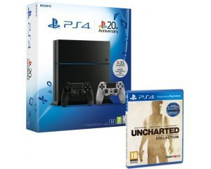 promotion console sony ps  to uncharted manette dual shock sac a