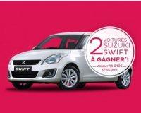 Nocibé: 2 voitures Suzuki Swift à gagner (valeur 14 010€)