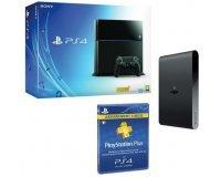 Cdiscount: Console Sony PS4 500 Go + Abonnement Playstation Plus 3 mois + PS TV à 349.99€