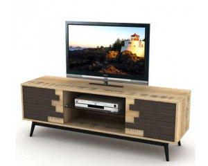 meuble tv style industriel mod le ethnica 69 40 conforama. Black Bedroom Furniture Sets. Home Design Ideas