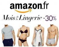 Amazon: Mois de la Lingerie : - 30% dès 40€ d'achat sur une sélection d'articles