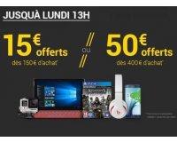 Fnac: [Adhérents] 15€ offerts dès 150€ ou 50€ offerts dès 400€ d'achats
