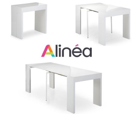 Table Console Alinea: Table Console Extensible De 37cm à 197cm (12 Personnes