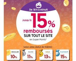 Rakuten-PriceMinister: De 18h à minuit : de 10 à 15% de vos achats remboursés sur tout le site