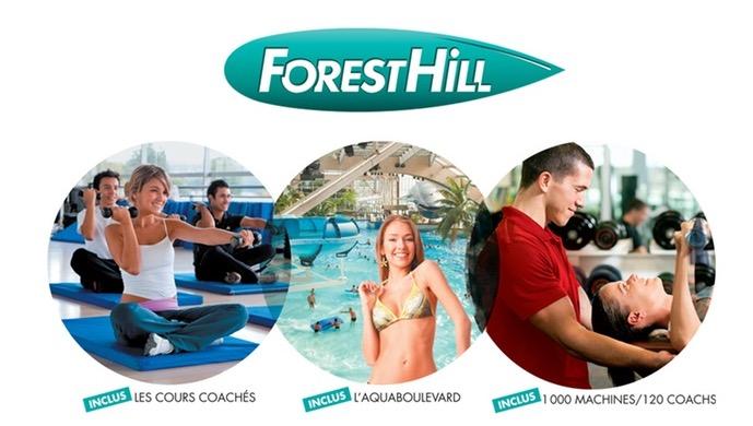Code promo Groupon : 1 an d'accès illimité à tous les clubs Forest Hill dont l'Aquaboulevard dès 468€