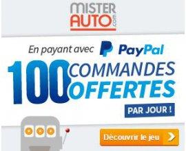 Mister Auto: 100 commandes payées par Paypal offertes chaque jour