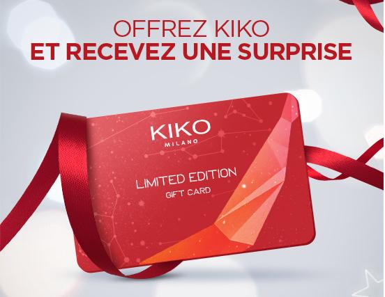 10 offerts en bon d 39 achat pour l 39 achat d 39 une carte cadeau de 50 kiko. Black Bedroom Furniture Sets. Home Design Ideas