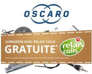Oscaro: Livraison gratuite en relais colis sans minimum d'achat