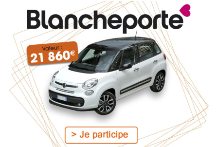une voiture fiat 500l lounge valeur 21 860 gagner blancheporte. Black Bedroom Furniture Sets. Home Design Ideas