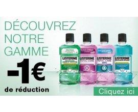 Listerine: 1€ de réduction pour tout achat d'un bain de bouche LISTERINE de 500ml