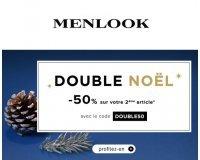 Menlook: -50% sur le 2e article sur la catégorie Offre spéciale