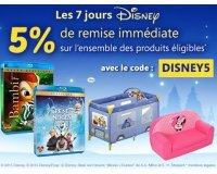 Cdiscount: 5% de remise immédiate sur une sélection d'articles Disney