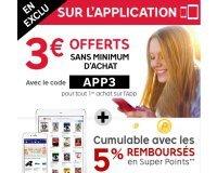 PriceMinister: 3€ offerts pour votre 1ère commande passée via l'application mobile