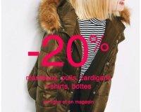Zara: - 20% sur les manteaux, pulls, cardigans, t-shirts et bottes