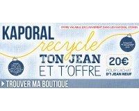 Kaporal Jeans: 20€ offerts en bons d'achat en ramenant vos vieux jeans en magasin