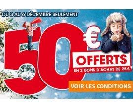 King Jouet: 50€ offerts en bons d'achat dès 50€ achetés en magasin et sur le web