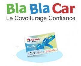 Total: 15€ de carburant ou 30€ de lavage pour votre 1er covoiturage avec Blablacar