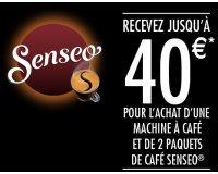 SENSEO: Jusqu'à 40€  remboursés pour 1 machine SENSEO + 2 paquets de café achetés