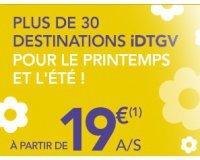 Voyages SNCF: Votre aller simple à partir de 19€ pour cet été