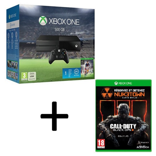 console xbox one 500 go fifa 16 call of duty black. Black Bedroom Furniture Sets. Home Design Ideas