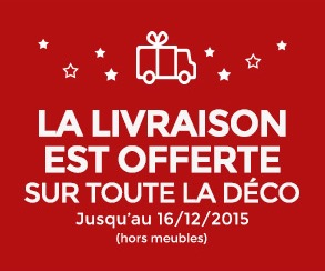 livraison offerte d s 20 d 39 achat sur toute la d co. Black Bedroom Furniture Sets. Home Design Ideas