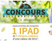 Willemse: 1 iPad et 5 chèques cadeaux de 50€ à gagner