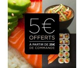 Sushi Shop: 5€ de réduction dès 25€ d'achat