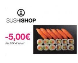 Shopmium: 5€ remboursés dès 20€ d'achat chez Sushi Shop