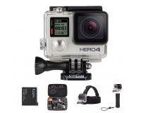 Amazon: GoPro HERO4 Silver + Poignée + Batterie + Bandeau + Etui de transport à 369€