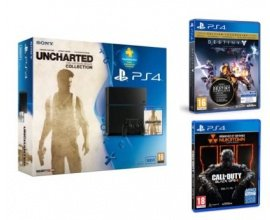 Fnac: PS4 500 Go + Uncharted + Destiny + Call of Duty BO3 et PS + 90 jours à 399,9€