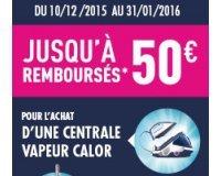 Calor: Jusqu'à 50 € remboursés pour l'achat d'une centrale vapeur