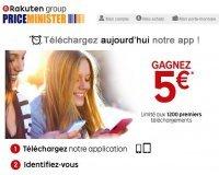 PriceMinister: 5€ offerts aux 600 premières personnes téléchargeant l'application