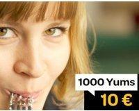 LaFourchette: Programme de fidélité : 10€ offerts en bon d'achat tous les 1000 Yums cumulés