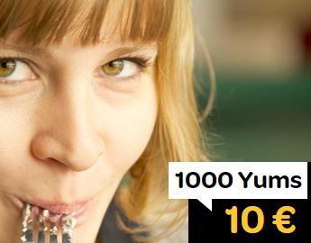 Code promo LaFourchette : Programme de fidélité : 10€ offerts en bon d'achat tous les 1000 Yums cumulés