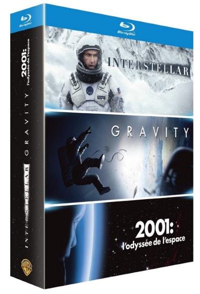 Code promo Amazon : Coffret Blu-ray Interstellar + Gravity + 2001, l'odyssée de l'espace à 9,99€
