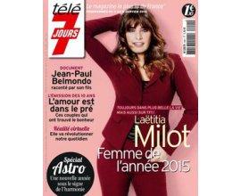 Kiosque FAE: Abonnement hebdomadaire d'un an (52 numéros) au magazine Télé 7 Jours à 26,90€