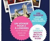 OUIBUS: 1 week-end à Londres pour 2 et des centaines de cadeaux à gagner
