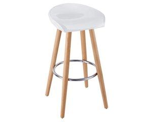 tabouret de bar blanc et bois 69 au lieu de 99 fly. Black Bedroom Furniture Sets. Home Design Ideas